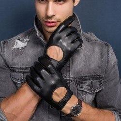 Männer Echte Leder Handschuhe Lokomotive Fahren handschuhe Importiert Schaffell touchscreen winter schwarz Handschuhe