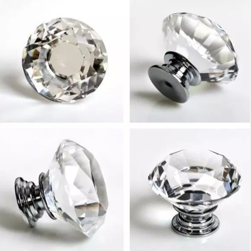 10pcs 30mm Dazzling K9 Crystal Office Desk Drawer Pulls and Glass ...
