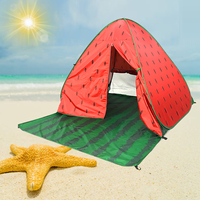 1Set Watermelon Sun Shelter Tent for Beach Summer Outdoor UV Tarp Automatic Beach Tents for Camping Outdoor Tent