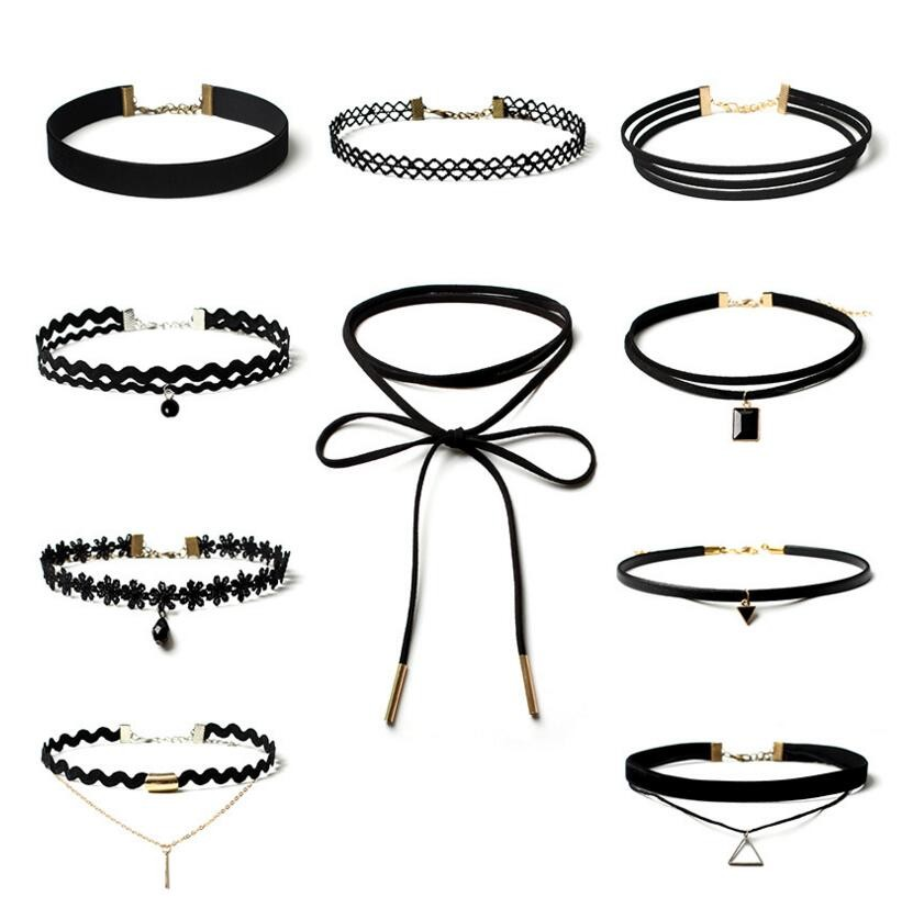 2016 new Long black Velvet choker jewlery leather necklace women accessories sale chocker necklace fashion necklaces for women
