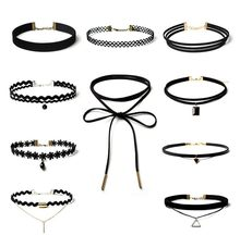 2016 new Long black Velvet choker jewlery leather necklace women accessories sale chocker necklace fashion necklaces for women(China)