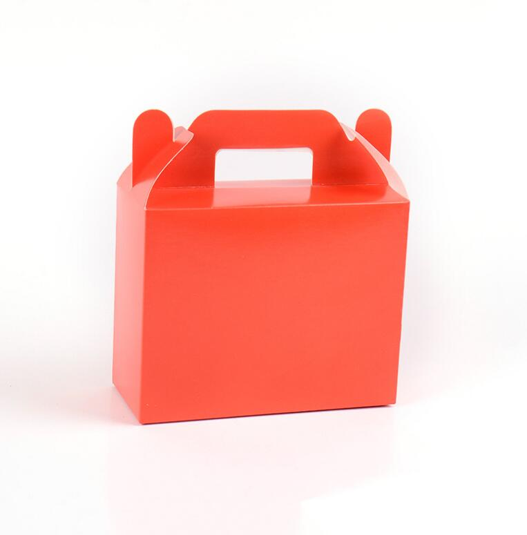 30Pcs/Lot Solid Candy Colour Gift Bags Foldable Party Favors Boxes Party Gift Paper Bags Wedding Favors 11*14*6cm Tablewares Dec