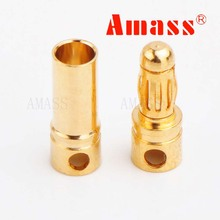 20 pairs/lot Brushless Motor High Quality Banana Plug 2.0mm 3.5mm 4.0mm Gold Bullet Connector Plated For ESC Battery