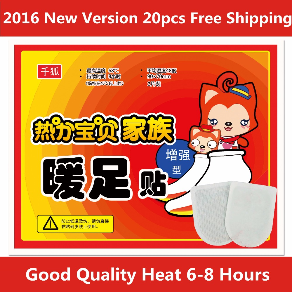 20 pcs non chargeable heated insole Warmer shoes 6 8 Hours Size 9x7cm foot warmer pocket