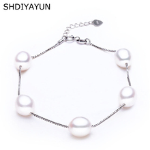 SHDIYAYUN Charm Pearl Bracelet Jewelry Natural Freshwater High Quality 925 Sterling Silver For Women Gift