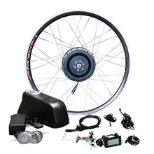 цена на Front or rear motor wheel 30-40km/h 48v 500w Electric bike conversion kit for 20 24 26 700c Samsung LG lithium battery ebike