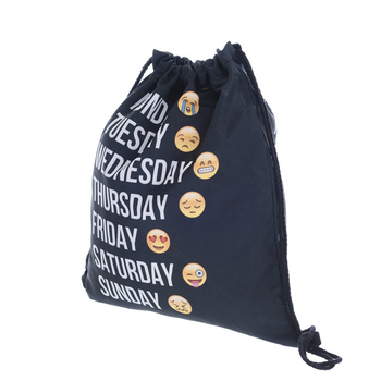 Fresh Style Drawstring Backpack Men's Bags Print Expression Backpack Summer Beach Ladies' Drawstring Backpack Children's Bag
