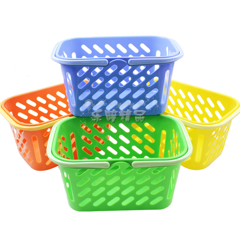 Plastic Portable Basket Storage Picnic Ping Small Cabarets