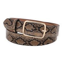 OLOME Vintage Snake Belt Female Leather PU Wide Punk Gold Metal Buckle Snakeskin Dress Waist Belt Women все цены