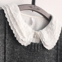Literary Accordion Pleats Lace Peter Pan Collar White Shirt Blouse Mori Girl 2015 Autumn