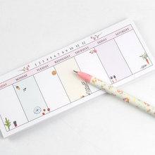 1X DIY Cute Week plan Memo Pad Sticky Note Kawaii Paper Sticker Pads Post It Creative Korean Stationery Free shipping
