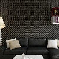 Cổ điển Rắn Màu Lưới 3D Dập Nổi Hình Nền Cuốn đối với Phòng Ngủ Phòng Khách Hiện Đại Đơn Giản Trang Trí Nội Thất Không dệt Tường giấy