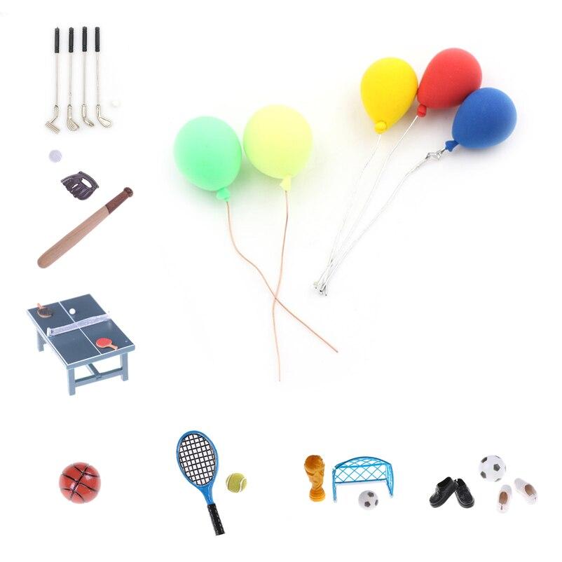 Croquet Set casa de muñecas en miniatura juguete Accesorio de jardín