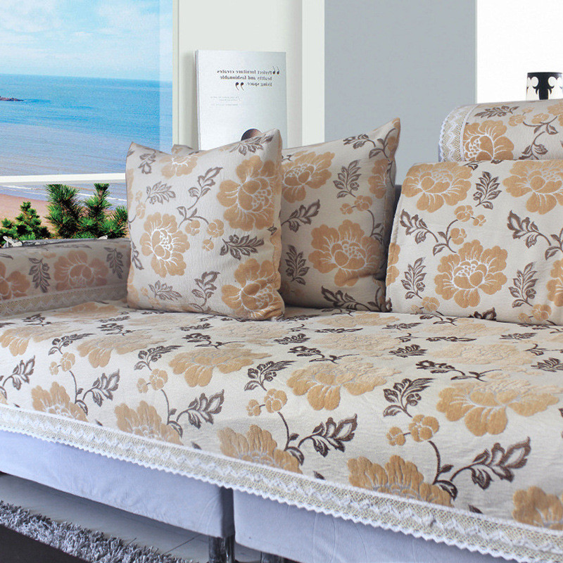 Jacquard Cover Canape Chenille Sectional Couch Covers Kanape Flocked