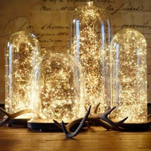 FENGRISE 2 5M Led Copper Wire String Lights Romantic Wedding Fairy Light Decoration AA Battery Operated