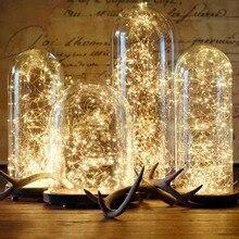 FENGRISE de 2 5 M Led de alambre de cobre Alambre de cadena luces boda romántica de la luz de hadas decoración AA de la batería operado de Año Nuevo de Navidad decoración