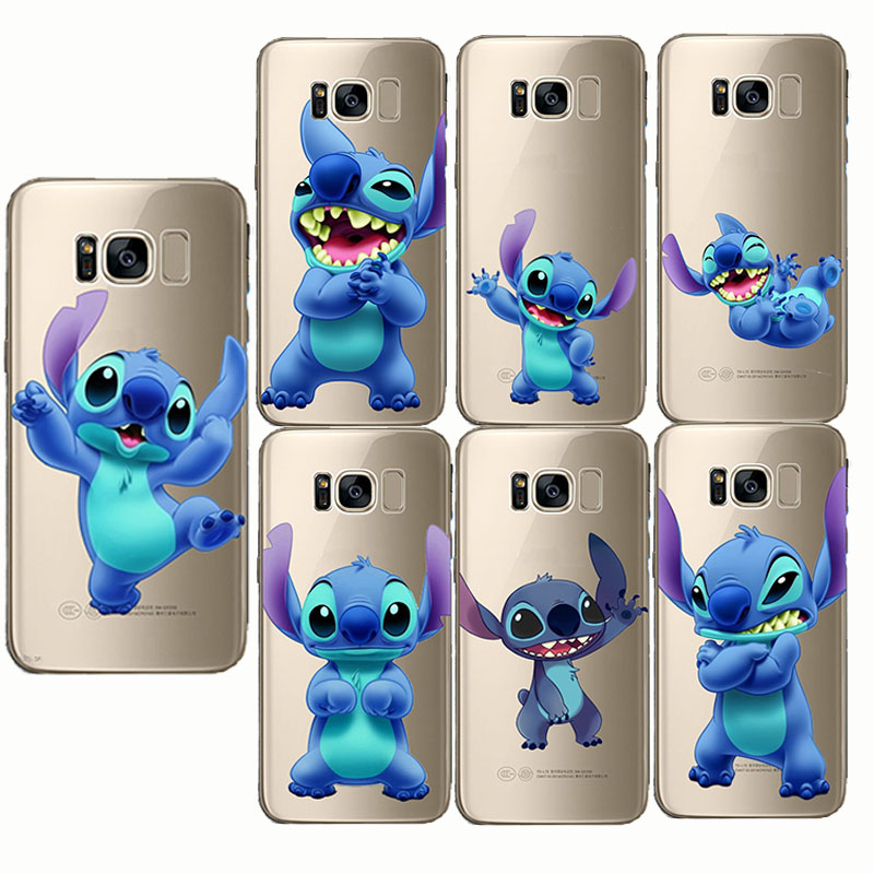 Cute Cartoon Stich Coque Shell Soft Silicone Tpu Phone Case For Samsung Galaxy S6 S7 Edge S8 S9 Plus Note 9 Note 8 Phone Bags & Cases