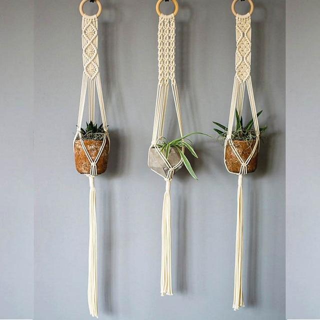 New Arrival 100 Handmade Macrame Plant Hanger Pot Hanger Indoor