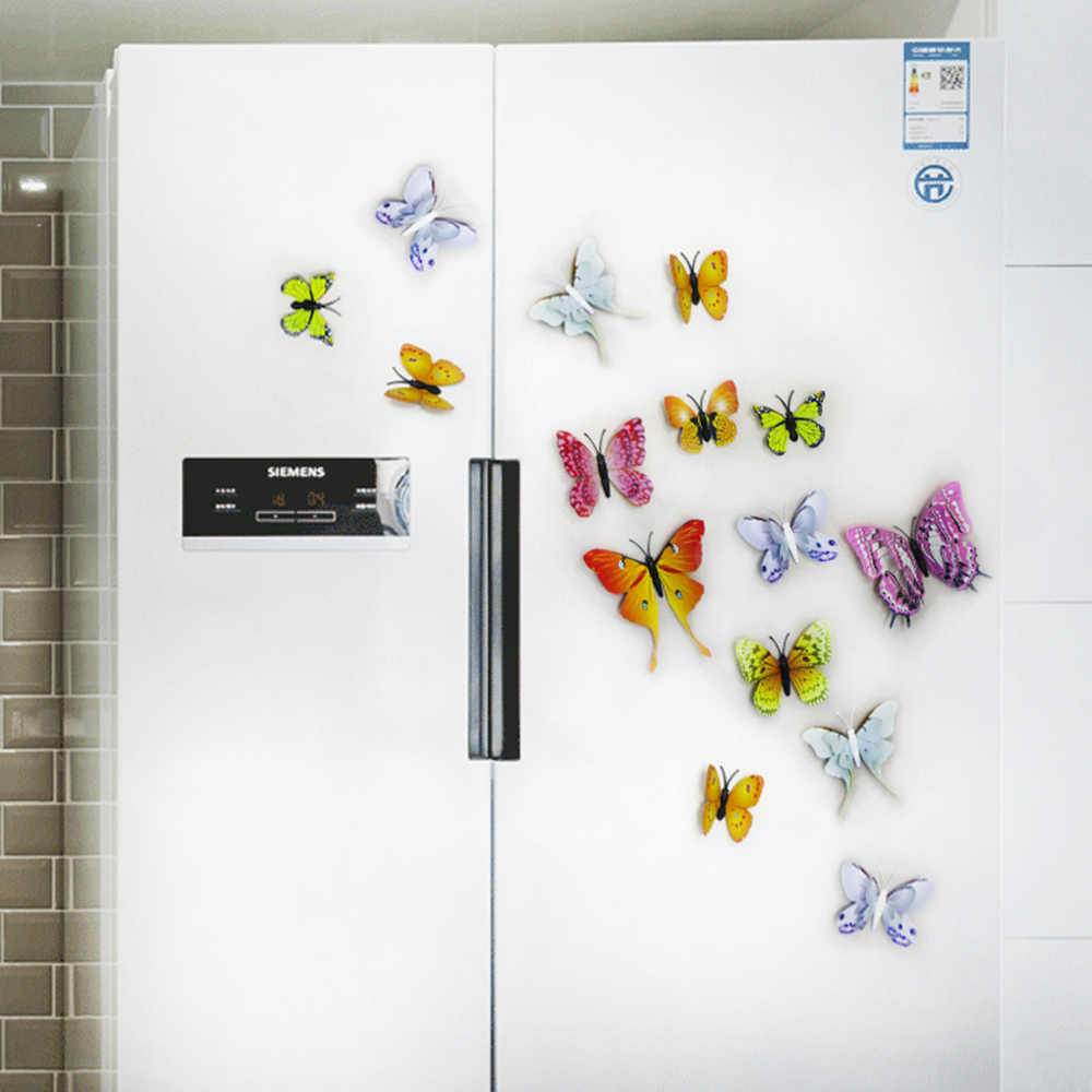 DICOR 12 個 DIY シミュレーションスター 3D 蝶アートウォールステッカー家の装飾リビングルームのベッドルームの子供の部屋の女の子パーティーギフト