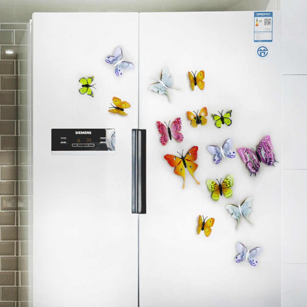 DICOR 12 قطعة Simulation بها بنفسك محاكاة ستار ثلاثية الأبعاد فراشة الفن الجدار ملصق لتزيين المنزل غرفة المعيشة غرفة نوم غرف الاطفال الفتيات الشارات هدايا الحفلات
