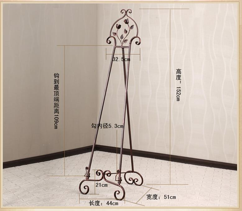 European fashion wrought iron painting frame floor display stand ...
