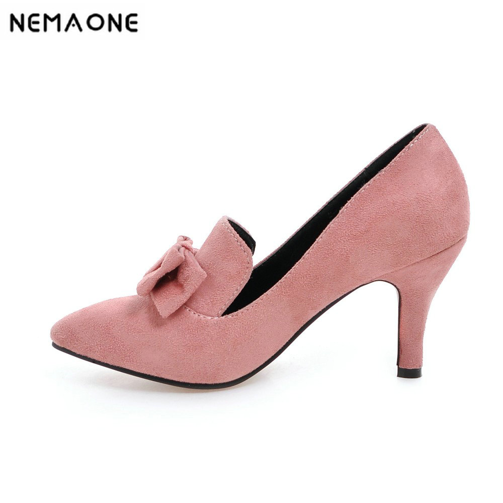New Office Lady Classics Women Sexy Stiletto High Heels Pumps Shoes Pointed Toe Shoes green pink Black Wedding Party Court Shoes enmayla women gradient color sexy stiletto pointed toe leopard pumps women high heels party shoes woman black office ladies