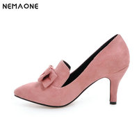 New Office Lady Classics Women Sexy Stiletto High Heels Pumps Shoes Pointed Toe Shoes Green Pink