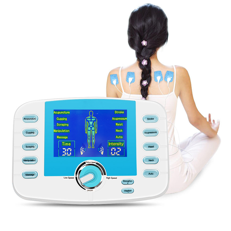 LCD 2 Channel 10 Modes Muscle Relax Stimulator Body Massager Electrical Pulse Tens Acupuncture Machine Pain Relief Fat Burner LCD 2 Channel 10 Modes Muscle Relax Stimulator Body Massager Electrical Pulse Tens Acupuncture Machine Pain Relief Fat Burner