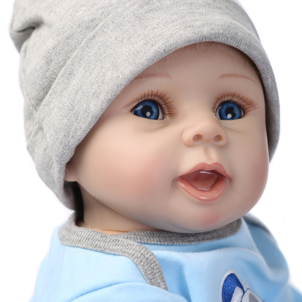 NPK 55cm Silicone Reborn Dolls Lifelike Baby Doll Boys 22inch Newborn Fashion Doll Christmas Gift Birthday Gift new ucanaan 50 55cm silicone reborn doll playhouse toys npk doll toys fashion dolls for boys gift the best christmas gift