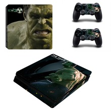 The Hulk Decal Skin PS4 Slim Console and Controller Decals Sticker Kit for Sony Playstation 4 Slim Full Body Cover Skins