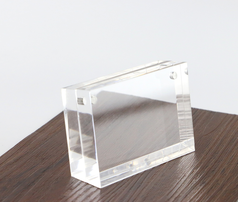 60*90mm Price Tag Name Card Display Acrylic Magnetic Picture Photo Frame Declining Desk Sign Frame AD Block Label Display Stand