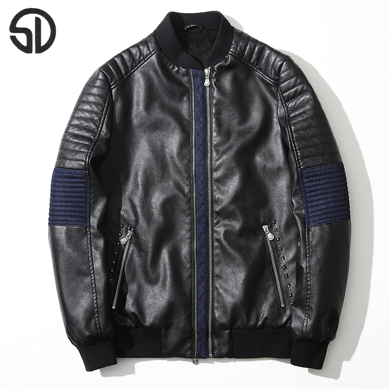 19330ee3b The Latest Multi PULeather Motorcycle Jacket Zipper Fashion Stitching Cool  Male Coat Thick Leather Garment Casual Leather Jacket-in Faux Leather Coats  ...