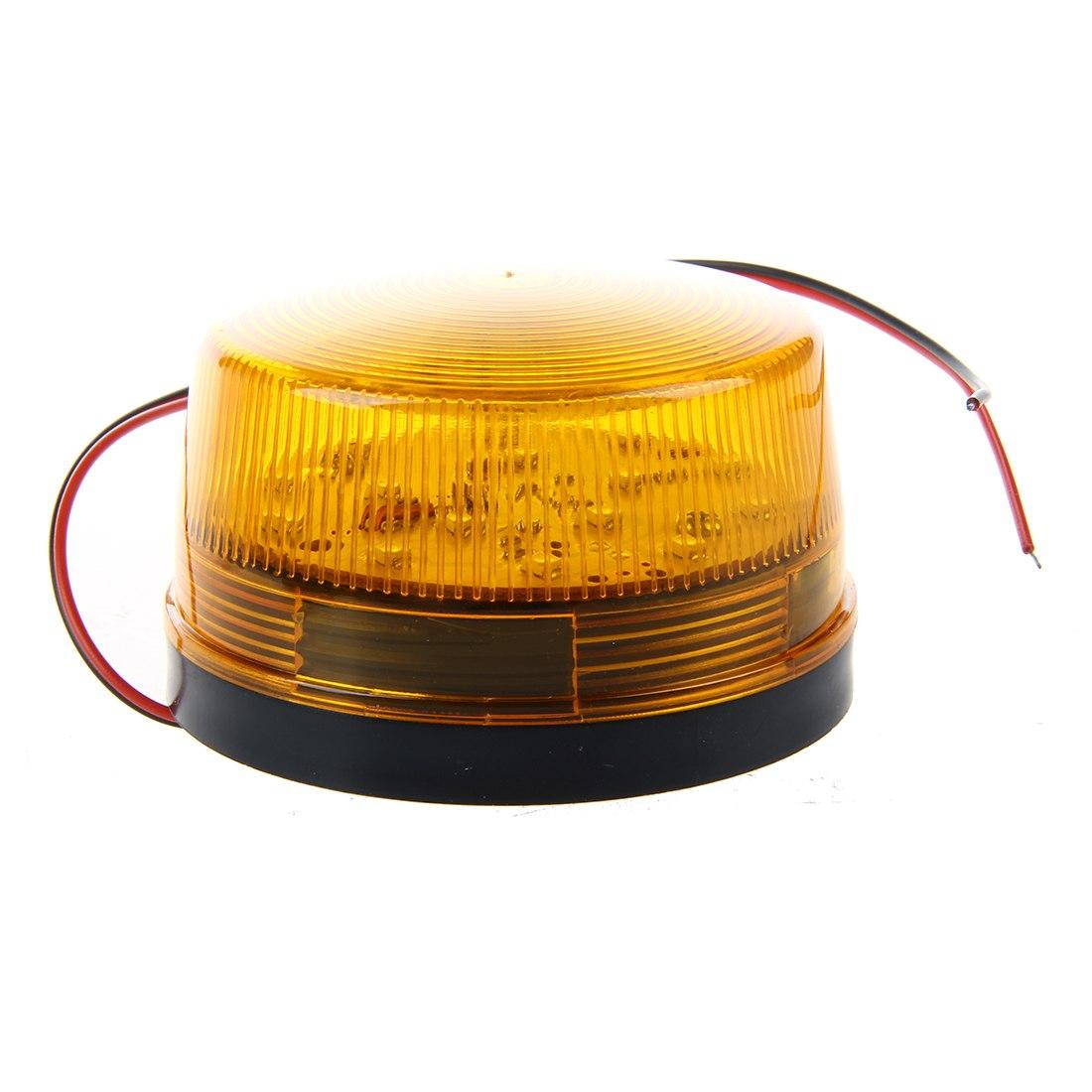 2 Pcs Of MOOL 12V Security Alarm Strobe Signal Safety Warning Blue/Red Flashing LED Light Orange