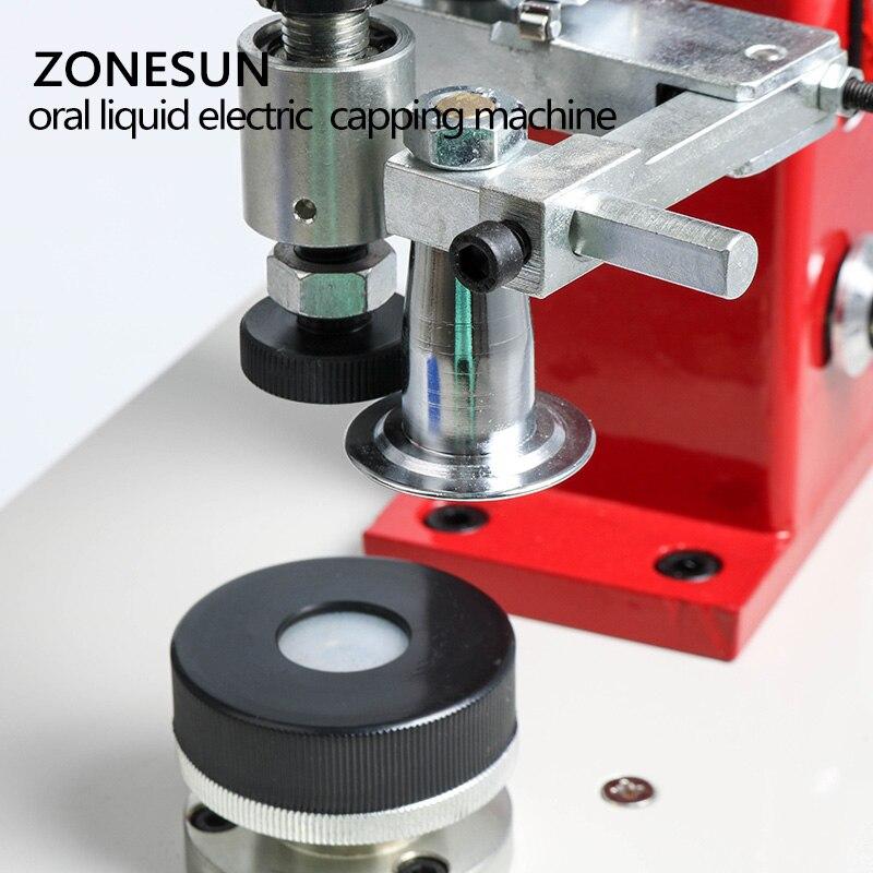ZONESUN 10-35mm Penicillin Bottle Capper Antibiotics Bottle Crimper Perfume Oral Liquid Solution Electric Capping Machine
