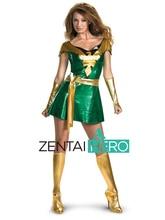 ZentaiHero Halloween Costume,Jean Grey Phoenix Shiny Metallic Superhero Costume Halloween Party Cosplay Zentai Suit PG101002