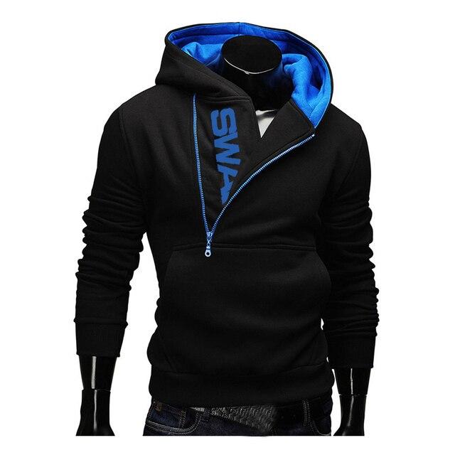 Hoodies Men 2018 Autumn Fashion Tracksuit Sweatshirt Men's Winter Warm Collar Cap Long Sleeves Pullover Hoody Sports Sweatshirts