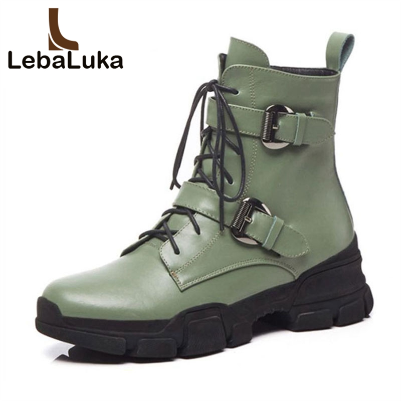 LebaLuka Ladies Boots Flat Heels Genuine Leather Plush Fur Winter WomenS Shoes Ankle Boots Woman Shoes Footwear Size 34-39LebaLuka Ladies Boots Flat Heels Genuine Leather Plush Fur Winter WomenS Shoes Ankle Boots Woman Shoes Footwear Size 34-39
