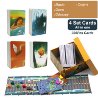 2019 cards game dixit 1 2 3 4 5 6 7 hard paper box wood bunny English&Russian rules for home party board game