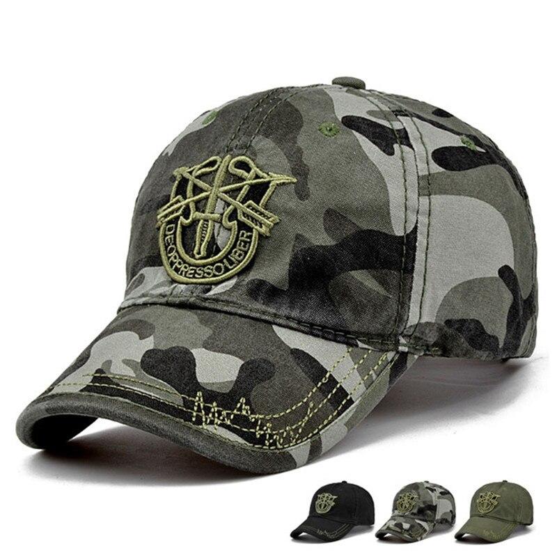 camouflage camo cap unisex baseball cap army snapback hat