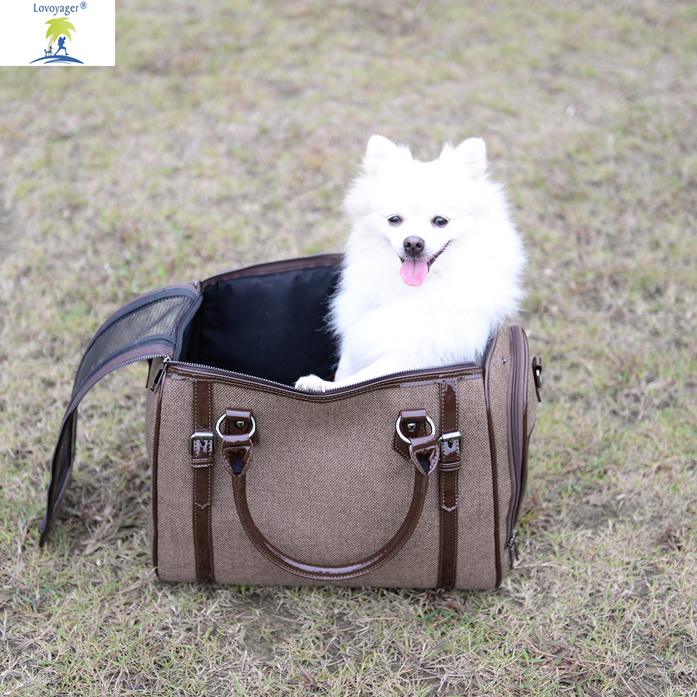 2018 Newly Pet Dog Airline Travel Carrier Bag Soft Linen Breathable Mesh Bed For Dog Cat2018 Newly Pet Dog Airline Travel Carrier Bag Soft Linen Breathable Mesh Bed For Dog Cat