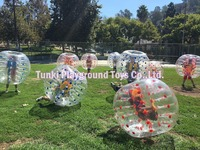 1.5m diameter colorful inflatable sports bubble football games