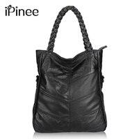 Fashion Genuine Leather Women Handbag Patchwork Natural Sheepskin Shoulder Bag Famous Brand Women Bag