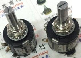 1pcs/lot Used Japan MF 10 10K 10-turn multi-turn wirewound potentiometer shaft diameter 6MM1pcs/lot Used Japan MF 10 10K 10-turn multi-turn wirewound potentiometer shaft diameter 6MM
