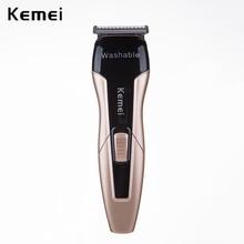 Машинка для стрижки волос моющийся триммер для бороды Электрический станок для бритья машинка для стрижки волос Kemei перезаряжаемая Бритва Парикмахерская 4 расчески