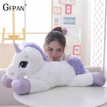 Гигантский 110 см плюшевая игрушка единорог мягкие мультфильм игрушечные единороги игрушка лошади высокое качество игрушки для детей девоч...