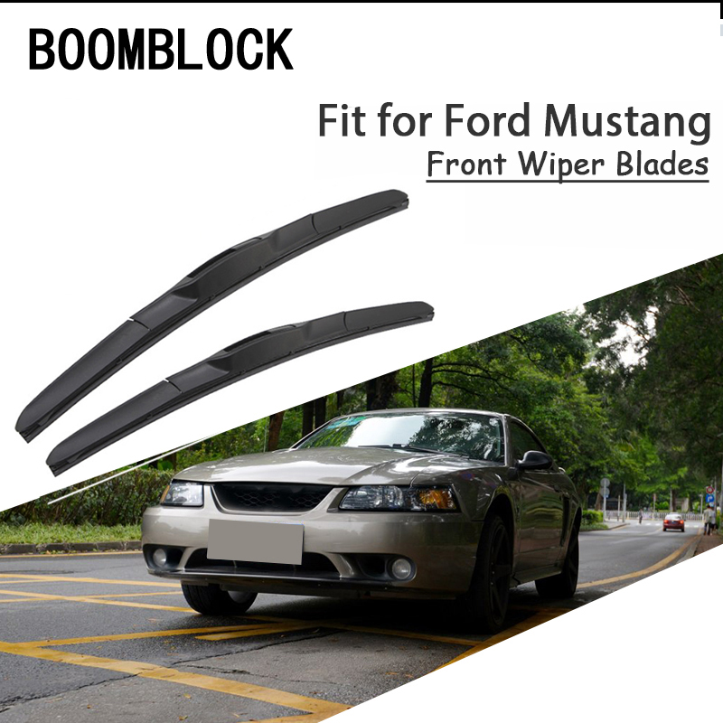 BOOMBLOCK 2PCS High Quality Front Windshield Wiper Bladest For Ford <font><b>Mustang</b></font> 4 5 6 th <font><b>GT</b></font> Accessories image