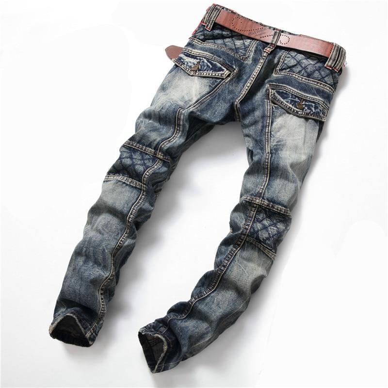 ФОТО New Arrival Designer Vintage Grey Skinny Biker Jeans Slim Fit For Men Cotton Small Botton Jeans Joggers Size 29-38 m466