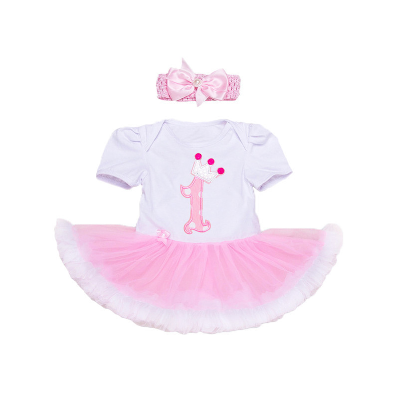 Baby Girls Clothing Sets Romper Dress + Headband + Shoes + Clothing Set Birthday Party Clothes Bebe Princess Dresses Free Ship