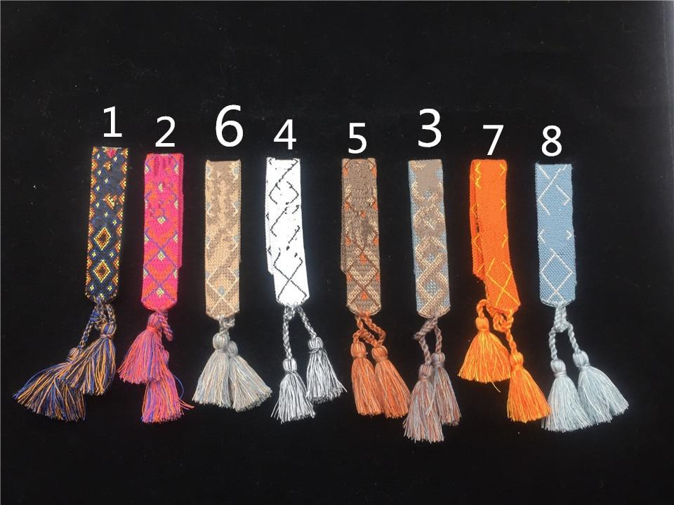 Chain & Link Bracelets Bracelets & Bangles Fashion For Women Cotton Letter Signature Fabric Sign Logo Woven Bracelet Bangle Tassel Lace-up Embroidery Bracelet