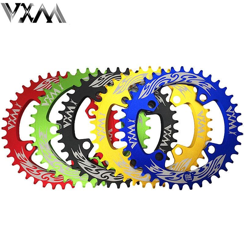 VXM Bicycle 96BCD ChainWheel MTB Bike 7075 Aluminium 38T Crankset Disc ChainWheel Tooth Slice Round Chainring Bicycle Parts стоимость